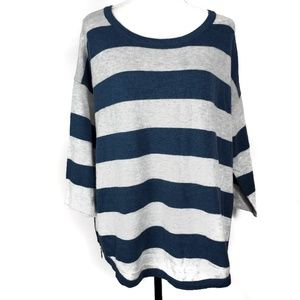 Sioni Wool Cashmere Blend Striped Sweater